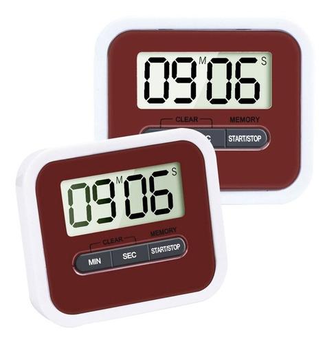 Imagen 1 de 4 de Timer Reloj Lcd Digital De Cocina - Electroimporta -