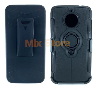 Funda Uso Rudo Protector Motorola Moto E4 Plus + Mica Gratis