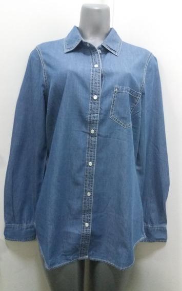Camisas Dama Charming Charlie Azul Jean - Talla M
