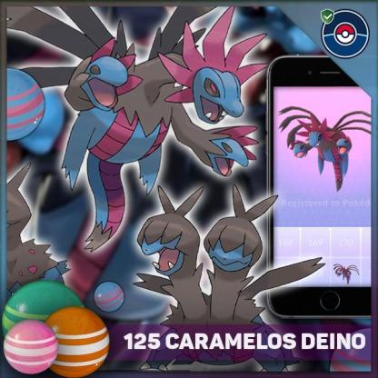 125 Caramelos Deino En Pokemon Go - Servicio De Farmeo