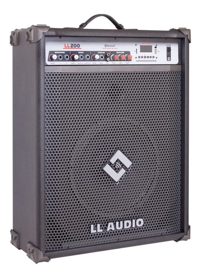 Caixa Amplificada Ll Ll200bt Bluetooth/usb/controle/sd/am/fm