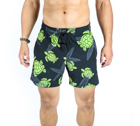 Kit 2 Short Masculino Praia Curto Estampa Moda Verão