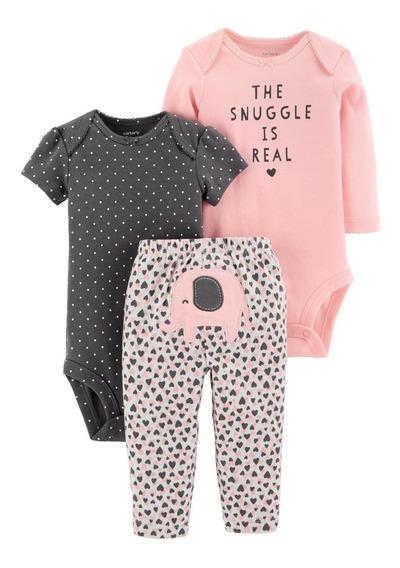 Carters Body Calça 3 Pecas Bori Bebê Menina Menino