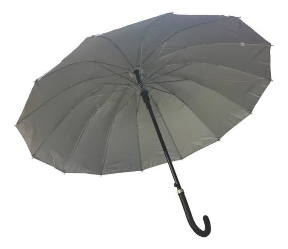 Paraguas Largo Reforzado 14 Varillas Hombre Mujer Unisex