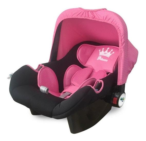 Bebê conforto Maxi Baby Double Face Princesas Preto/Rosa