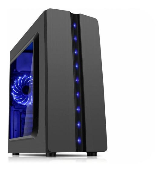 Gabinete Gamer K-mex Matrix Cg04r8 C/ Led Azul