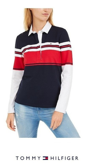 Chomba Buzo Polo Tommy Hilfiger Mujer Rugby Importada R/45