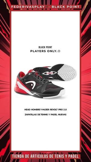 Zapatillas Tenis Padel Head Revolt Pro 2.0 Neg/rojo