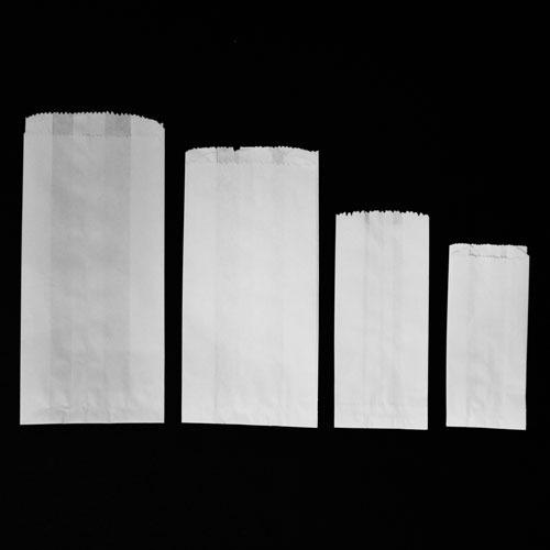 Bl-1/4 Bolsas Papel Biodegradable Estraza Blanco 6x15.5cm 100pzs Mesa Dulces Marquesitas Comida Insumos Empaques