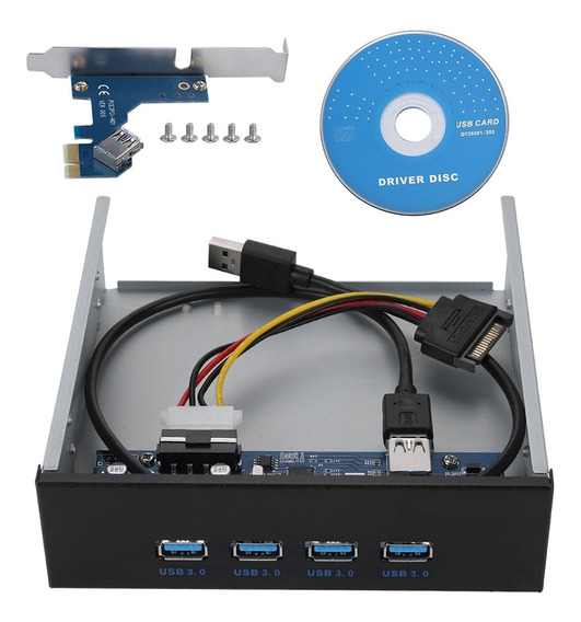 Hub Usb Do Painel Frontal Do Driver Do Cd-rom Pci-e Para 4 I