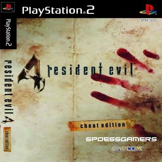 Resident Evil 4 Português Com Cheats Ps2 Desbloqueado Patch