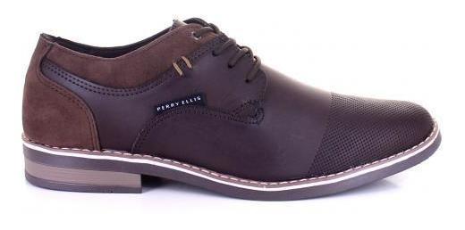 Zapato Para Hombre Perry Ellis Pe-7069-054562 Color Moka