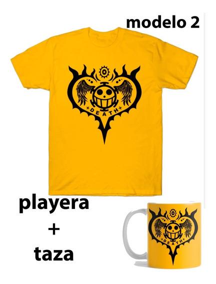 Playera One Piece + Taza Modeo A Elegir Con Envio