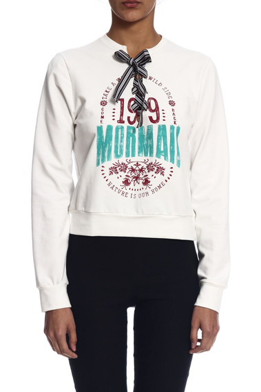 Blusão Mormaii Moletinho Estampado - Branco Gelo