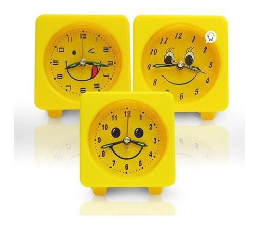 Reloj Mesa Niños Despertador Alarma Sonrisa Ag134