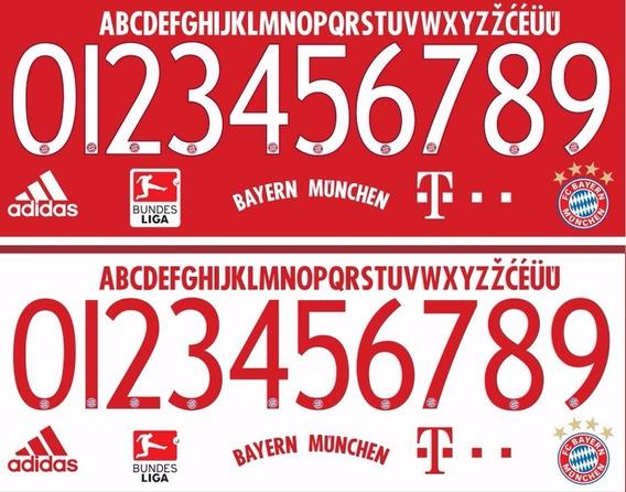 Estampado Numero Bayern Munich 2015 2016 Puma