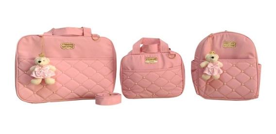 Bolsa De Bebe Kit Mala Maternidade Super Luxo Menino Menina