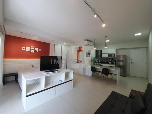 Imagem 1 de 11 de Apartamento Studio No Unlimited Ocean Front Em Santos - Ap00431 - 69179494