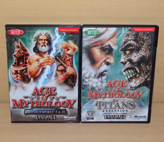 Age Of Mythology - Usado + Aom - The Titans - Lacrado - Pc