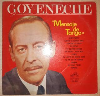 Disco Lp Roberto Goyeneche Mensaje De Tango