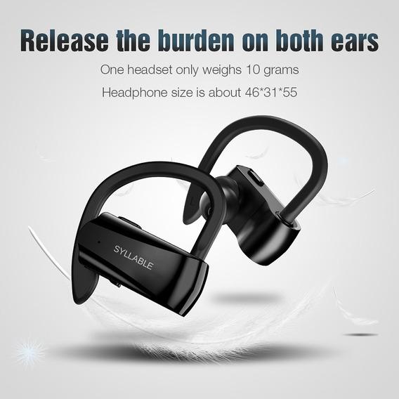 Fone Sem Fio Syllable D15 Bluetooth 5.0 Resiste Água Esporte