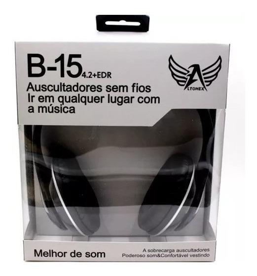 Fone De Ouvido Stereo Bluetooth Sem Fio B-15 Altomex Cores