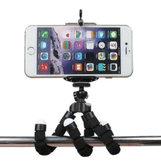 Tripé Flexível Suporte P/ Celular Câmera Ação Aventura Gopro