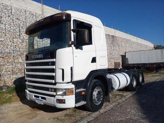 Scania R420,ano:05,branco,trucado 6x2,motor Novo,impecável.
