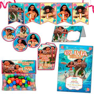 Kit Imprimible Moana Disney Candy Bar Invitaciones Tarjetita