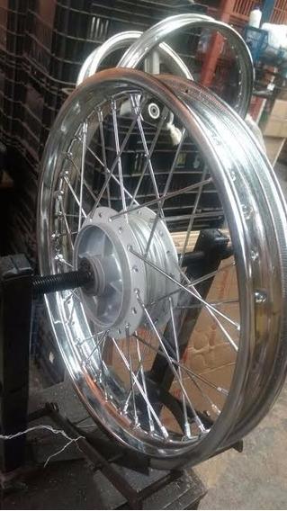 Roda Montada Traseira Sundown Web 100 Nova Rolamento+coxim