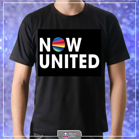 Camiseta Now United Preta - Personalizada