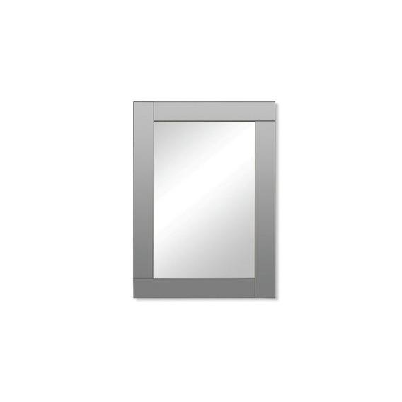 Espejo Klee Rectangular Marco Gris Reflejar Sin Interes