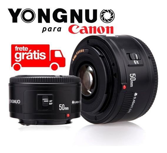 Lente Yongnuo 50mm F1.8 Para Canon Ef Original Rebel Eos T6