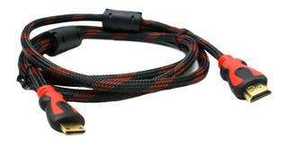 Cable Hdmi 1.5 Metros Full Hd Mallado Con Filtro Led Tv 3d