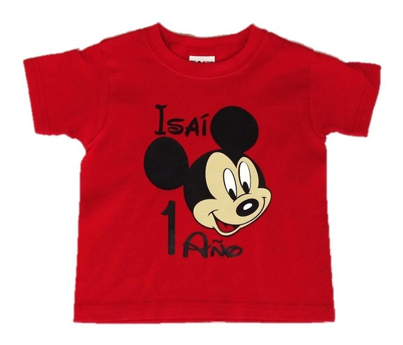 4 Playeras Mickey Mouse Personalizas Mamá Papá Y Festejad@
