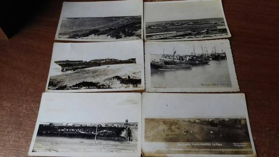 Lote 6 Antiguas Postales Kodak Puerto Madryn Chubut