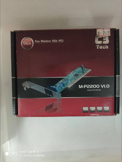 Placa Fax Moden 56k Pci C3 Tech !!nova!!