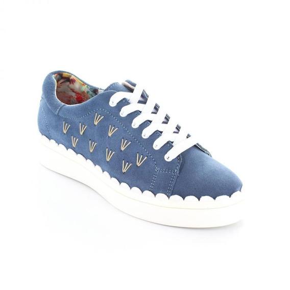 Tenis Para Mujer Brantano 3918-046444 Color Azul