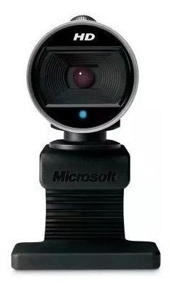Webcam Microsoft Lifecam Cinema Hd 720p 30fps 360 Preta