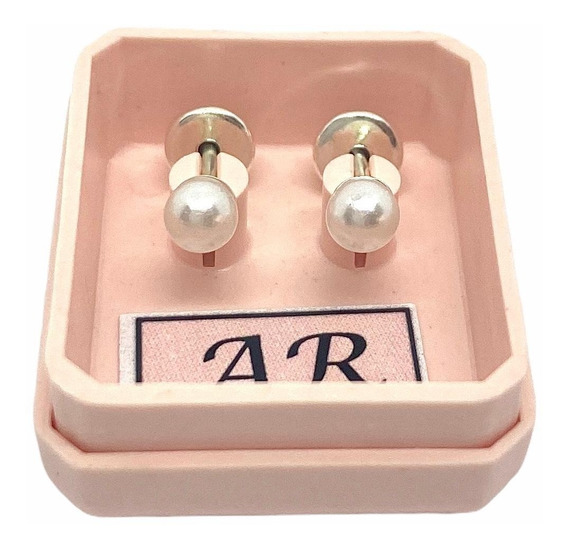 Aros Abridores De Plata 925 Mod Perlitas Mujer Niñas Liniers