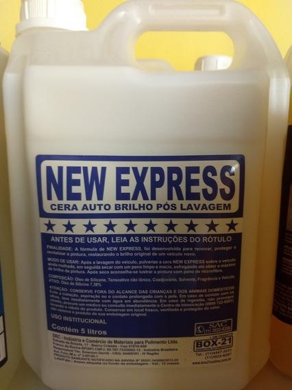 05 Lts Cera Liquida Express 1x30 Box 21 + 05 Shampoo C/ Cera