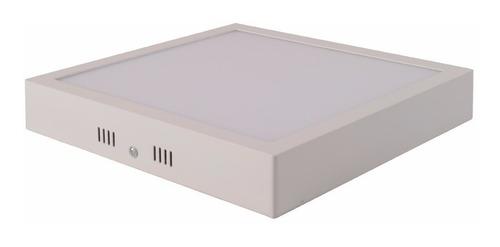 Panel Plafon Led Externo 24w Cuadrado30x30x4cm Cálido