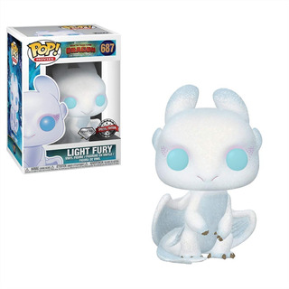Funko Pop How To Train Your Dragon Glitter Light Fury Exclus