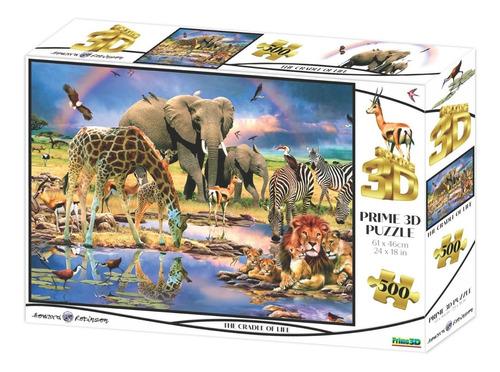 Puzzle Rompecabeza 500pzs Prime 3d La Cuna De La Vida 10367