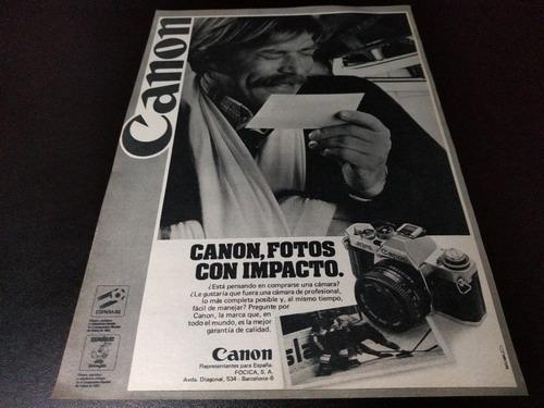 (pb451) Publicidad Clipping Camara Fotografica Canon * 1982