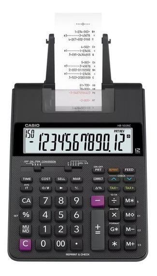 Calculadora De Mesa Casio Com Impressão Hr-100rc - Bi Volt