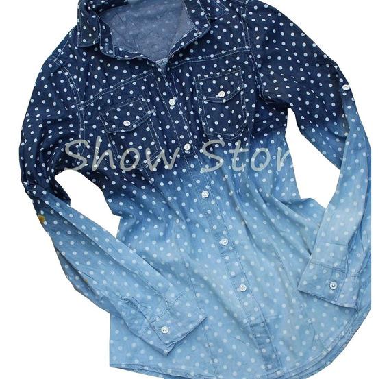Comprar Blusa Feminina Manga Longa Jeans Com Estampa 2508