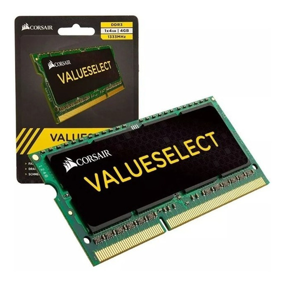 Memoria Corsair Sodimm Ddr3l 4gb 1333mhz Value Notebook