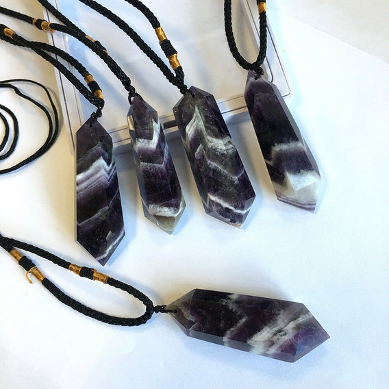 Pingente Ametista Amuleto Cristal Natural Colar Quartzo Cura