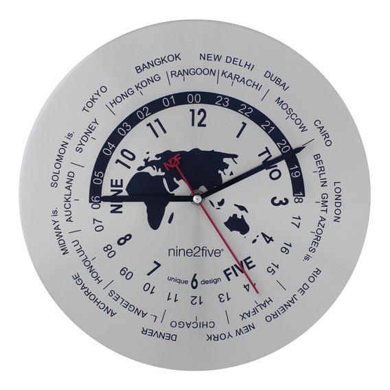 Reloj De Pared Nine2five Moderno Reloj Mundial